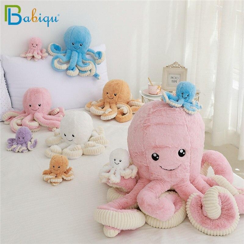 Babiqu 40-80cm Cute Octopus Plush Toy Octopus Whale Dolls & Stuffed Toys Plush Sea Animal Toys For Children Kids Xmas Gift