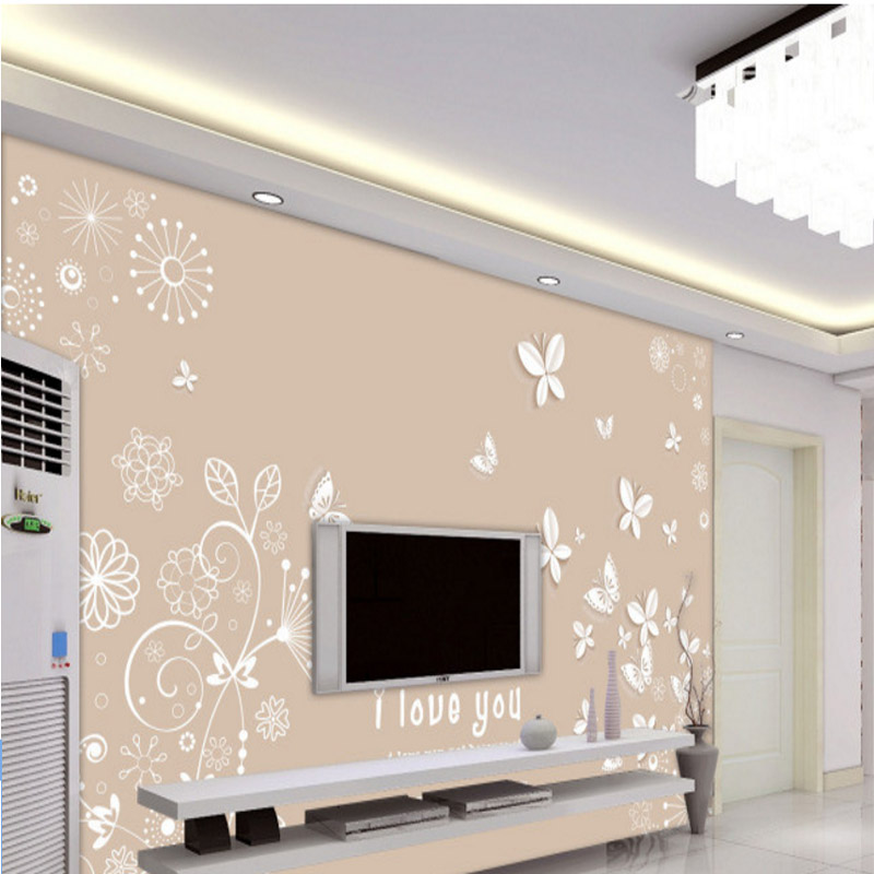 simple fashion modern photo wallpaper custom 3d effect high quality living room bedroom TV background romantic butterfly mural