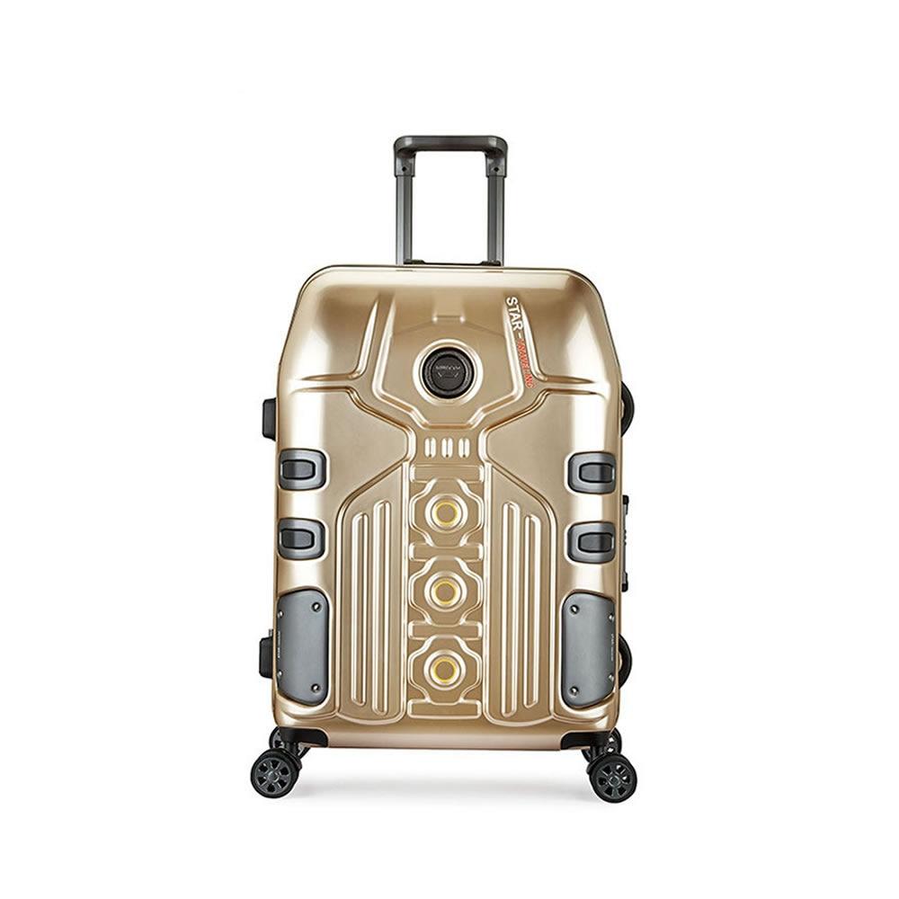 4 Sizes Vintage Travel Trolley Luggage Suitcase PC Hard Shell Aluminum Frame With TSA Lock Hardside Rolling Suitcase With Wheels