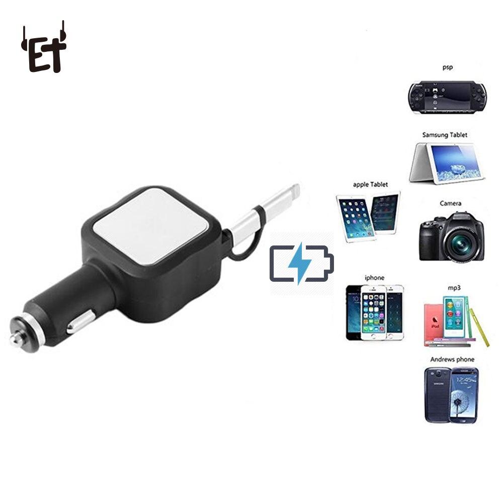 Car Charger,Car Mini LED Light Quick Charger 3.0 Dual USB Port Phone Tablet Car Charging Mini Flush PQ3-A
