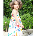 Little Girls Dresses Summer 2017 Kids Dresses for Girls Clothes Bobo Choses Graffiti Print Girl Dress Robe Fille Enfant