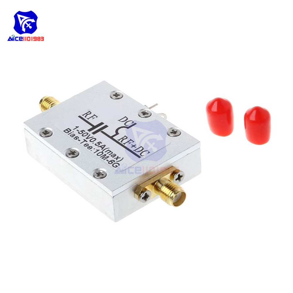 10MHz-6GHz RF Bias Tee DC Blocks for HAM Radio RTL SDR LNA Low Noise Amplifier with Shell image