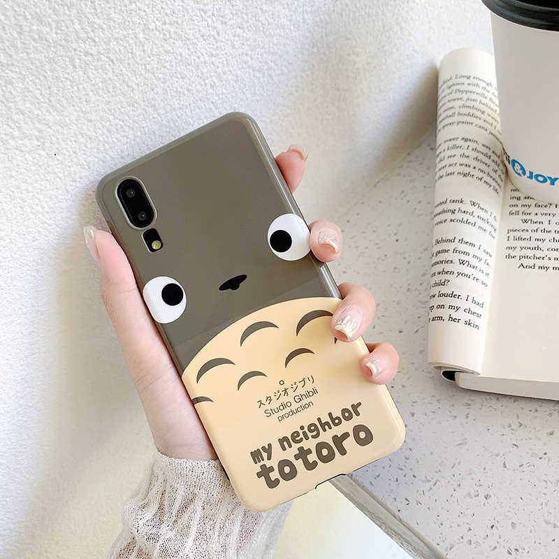 Phone Cases for Huawei P30 P20 Pro Mate 20 Pro Cute japan cartoon totoro IMD soft cover For Honor 10 Nova 3 3i 4 back Cases