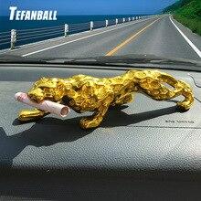 Voiture ornements léopard Figurine Cool Auto décor Automobiles intérieur tableau de bord résine artisanat décoration de la maison accessoires cadeau