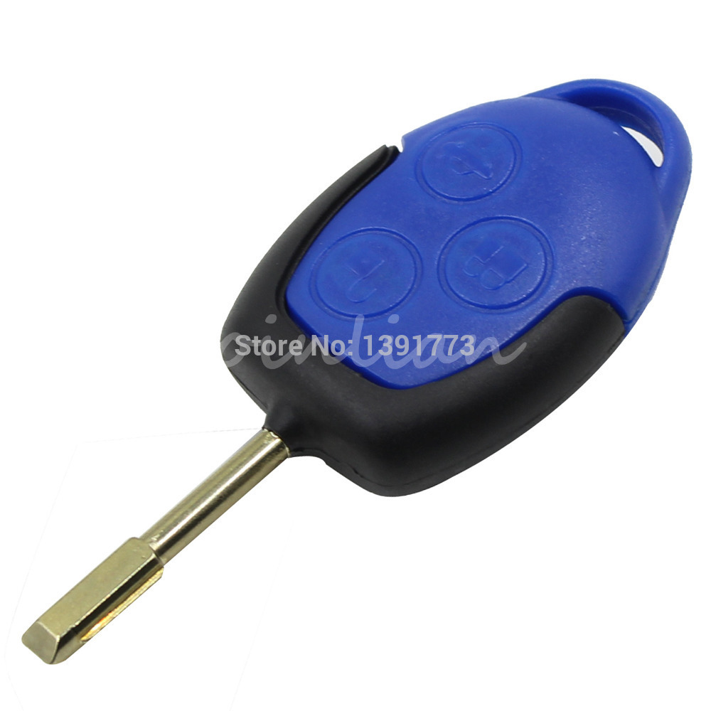 Keyyou replacement 3 button transit connect set remote key shell case for ford with logo free
