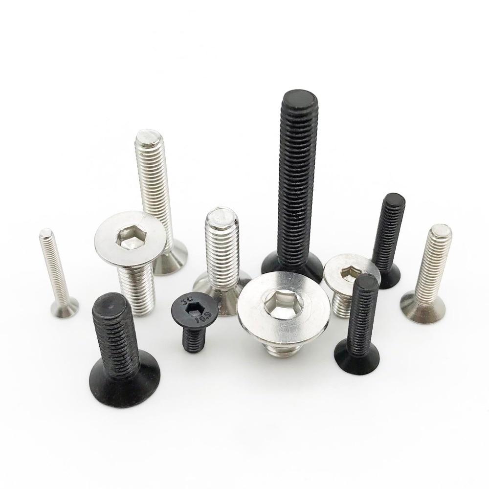 Glarks 510Pcs M3 M4 M5 304 Stainless Steel Allen Hex Drive Button Head Socket Cap Bolts Screws Assortment Kit
