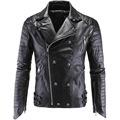 New High Quality Winter Men Leather Jacket Slim Fit PU Zipper Biker Motorcycle Coat Punk Style Windproof Waterproof Warm M-5XL