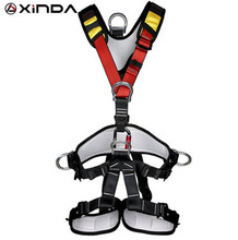 XINDA Professional Rock Climbing High altitude Full Body Safety Belt Harnesses Anti Fall Removable Protective Gear professional full body 5 point safety harness seat sitting bust belt rock climbing rescue fall arrest protection gear equipment