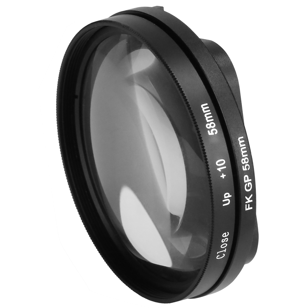 SHOOT 10x Magnification Close up lens 58mm Macro Lens for Gopro Hero 6 5 Black Original Waterproof Shell Go Pro 6 5 Accessories