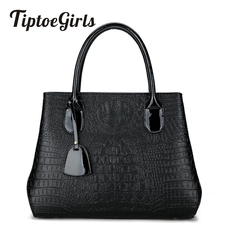 Winter New Personalized Crocodile Pattern Handbag European and American Fashion Shoulder Messenger Messenger Bag