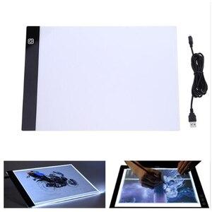 Image 4 - 2019 nowy diament malarstwo A4 LED lightpad cienki rysunek artystyczny podświetlana tablica śledzenie pisanie przenośny elektroniczny Tablet Pad