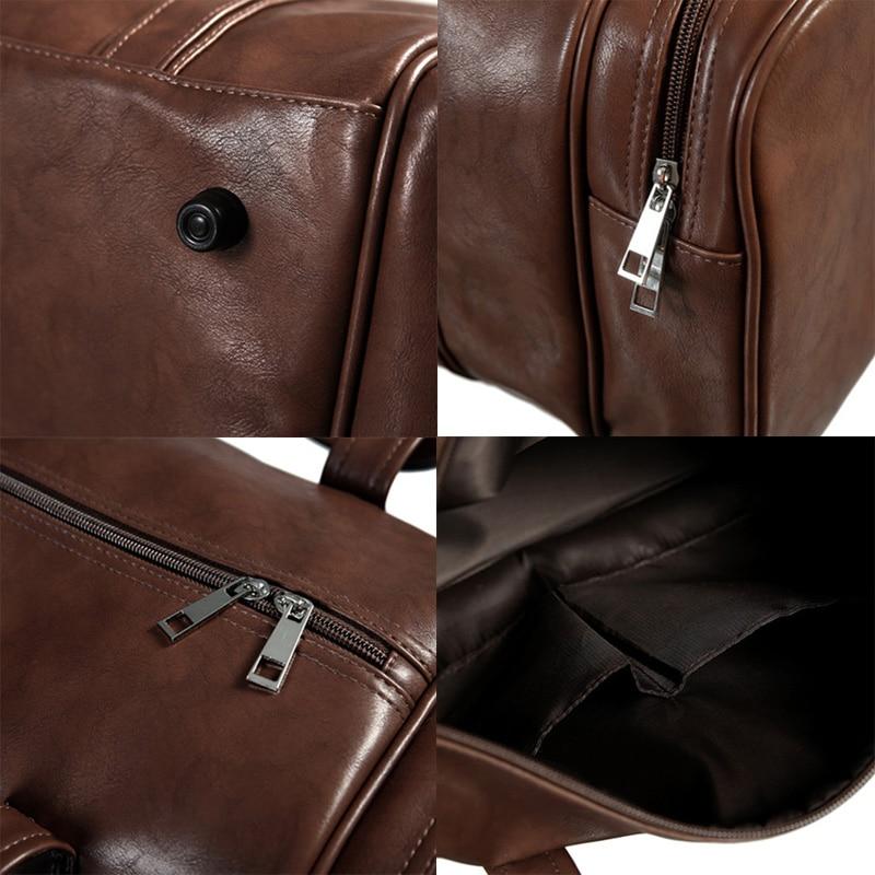 ec648cab3230 Men s PU Leather Gym Bags Travel Sports Bag Fitness Men Women Handbags  Shoulder Yoga Sac De. sku  32866421542