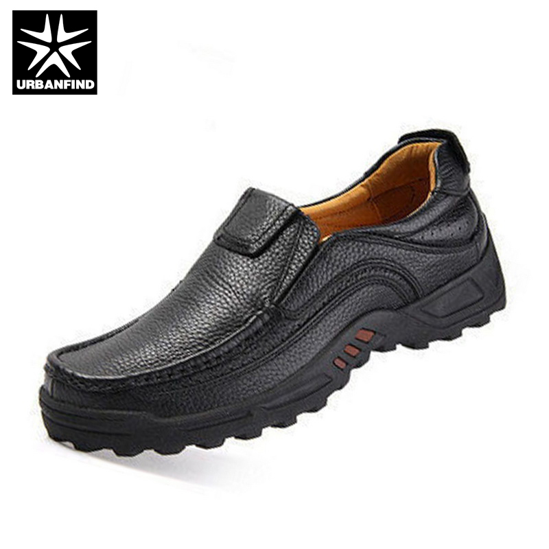 URBANFIND Men Shoes Slip On Style Business Man Casual Shoes Large Size 38 44 Men Leather