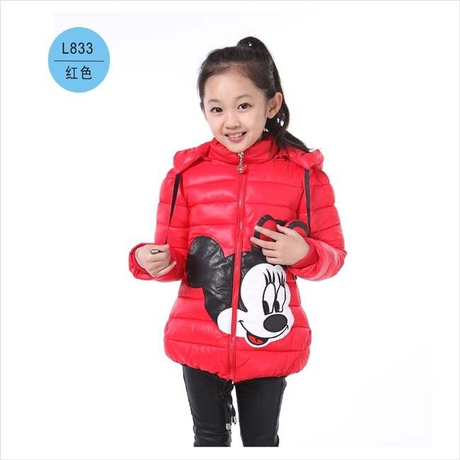 Forró! Lányok téli kabátok és ruházat gyerekek Minnie Cartoon - Gyermekruházat - Fénykép 5
