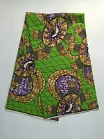 2016 Privately Design UFO Pattern African Geometry Real Wax Green Purple Flowers Wax Super Fabric For