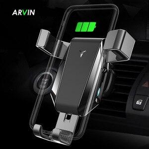 Image 1 - Arvin Auto Telefon Halter Drahtlose Ladegerät Stehen Für iPhone X XR Samsung Automatische Intelligente Schwerkraft Verknüpfung Schnell Ladegerät Montieren