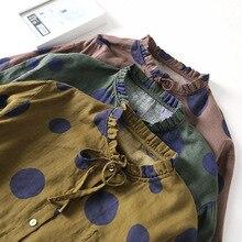 Polka Dot Shirts 2018 Summer New Japanese Style