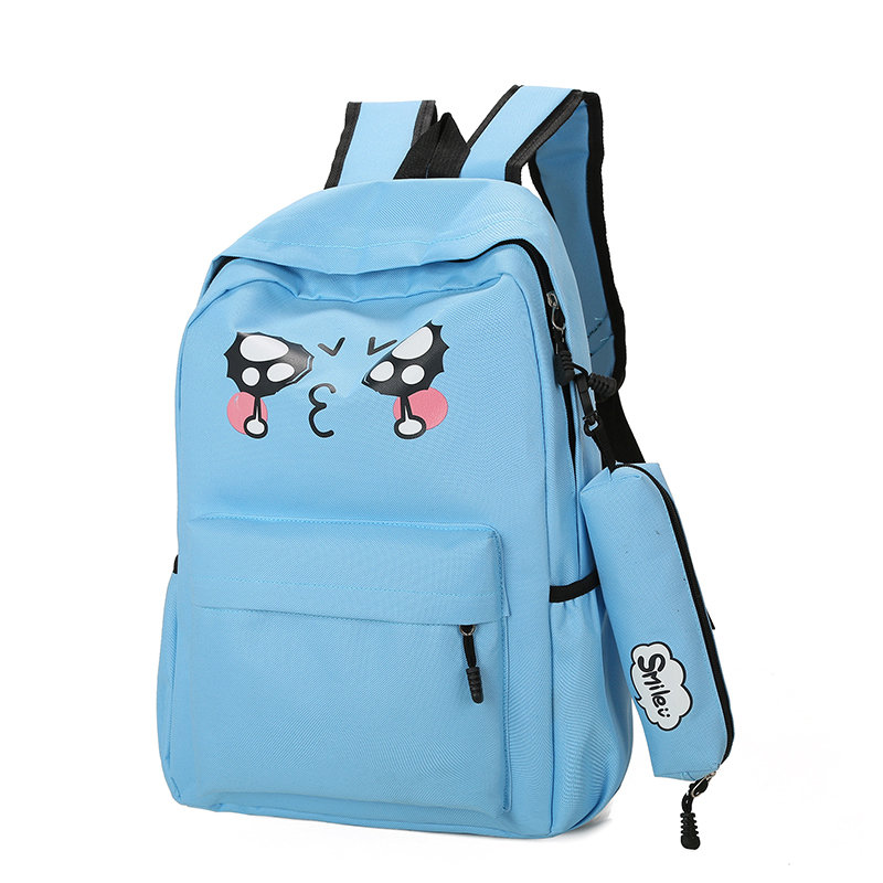 Cute Cry Face School Backpacks Boy And Girl Bookbag Female Laptop luggage Travel Noteboo ...