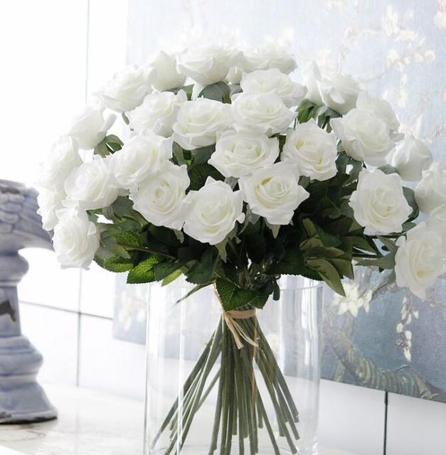 30pcs Cheap Artificial Rose Flower Silk Flower Centerpiece Corsage