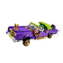 Batman Movie 07046 The Joker`s Notorious Lowrider Car Set Building Blocks Bricks Educational Children Toys Gift Fit Legoed 70906 in stock 433pcs lepin 07046 genuine movie series joker s lowrider