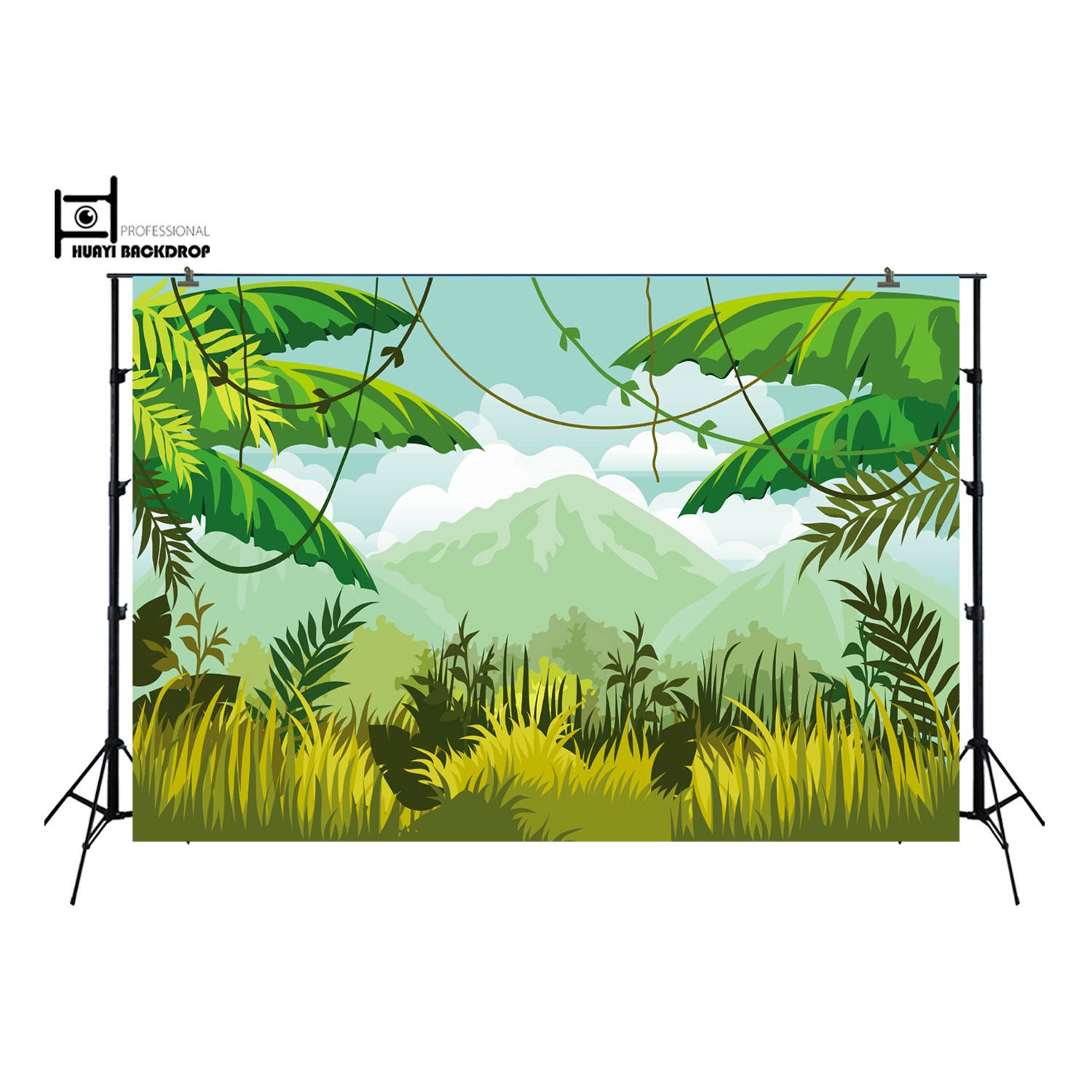 Jungle Birthday Party backdrop,Jungle decor banner party backdrops,dessert table cupcake decortive background XT-6499
