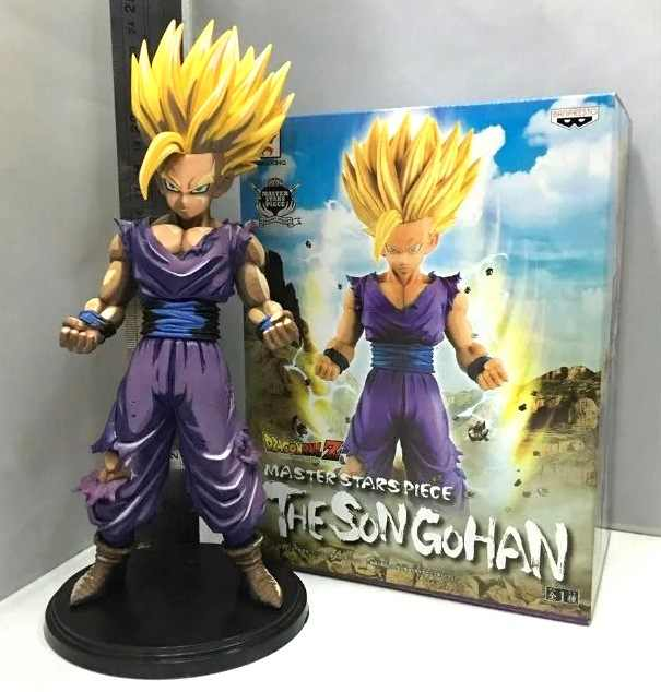 26cm Dragon Ball Z Super Saiyan Son Gohan Comics Anime Action Figure PVC Collection toys for christmas gift free shipping