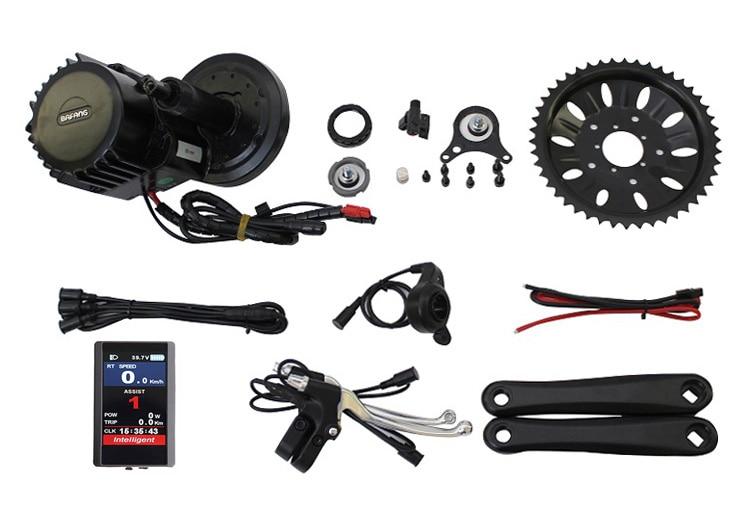 ConhisMotor 48 v 1000 w BAFANG/8FUN BB90 mm Larghezza BBS03 BBSHD Ebike Mid Kit Kit Motore con il Colore 850C o C961 Display LCD
