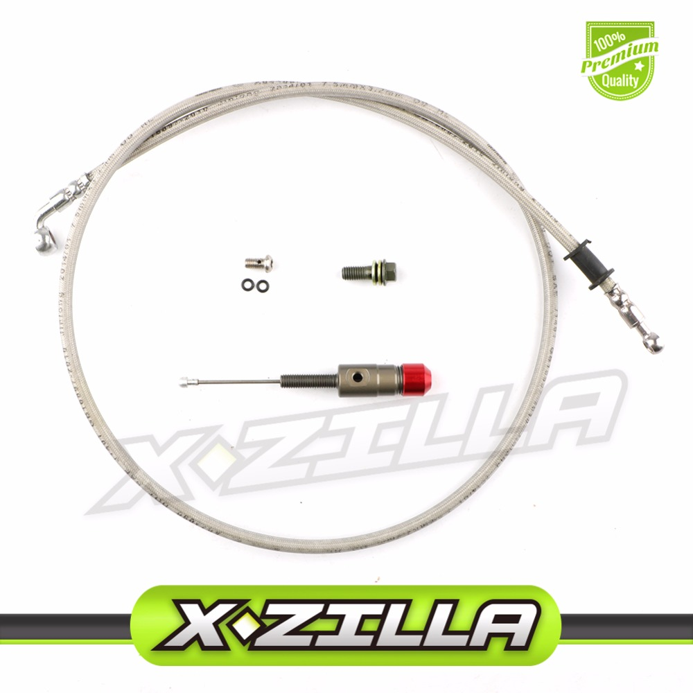 Hydraulic Clutch parts M8 x 1.2M oil hose and master cylinder pump refitting for Dirt Pit Bike ATV quad Motorcycle use hydraulic pump parts a10v028dr 31r psc12ko1 pump parts seal kit piston shoe