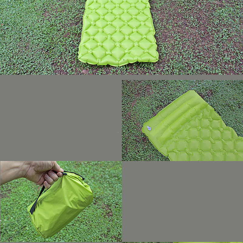 Image 5 - VILEAD Ultralight Inflatable Camping Mat 185X55cm Automatic Cushion Sleeping Pad Outdoor Air Bed Self drive Travel With Pillow-in Camping Mat from Sports & Entertainment
