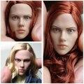 1/6 The Avengers Iron Man Black Widow headsculpt Scarlett Long short hair blonde support HT for DIY 12inch Action Figure Doll
