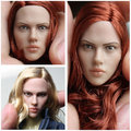 """1/6 female head shape for 12"""" action figure doll accessories The Avengers Black Widow head carved not include body and clothes"""