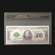 2018 Новые товары для 1918-дюймовой серебряной американской банкноты 500 доллара банкноты в серебряном покрытии 24k с рамкой COA для коллекции