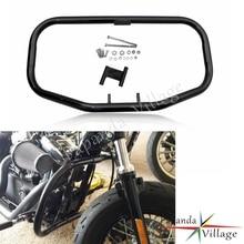 Papanda Motorbike Black Engine Guard Protection Highway Crash Bar for Harley Sportster XL 883 1200 1984-2003
