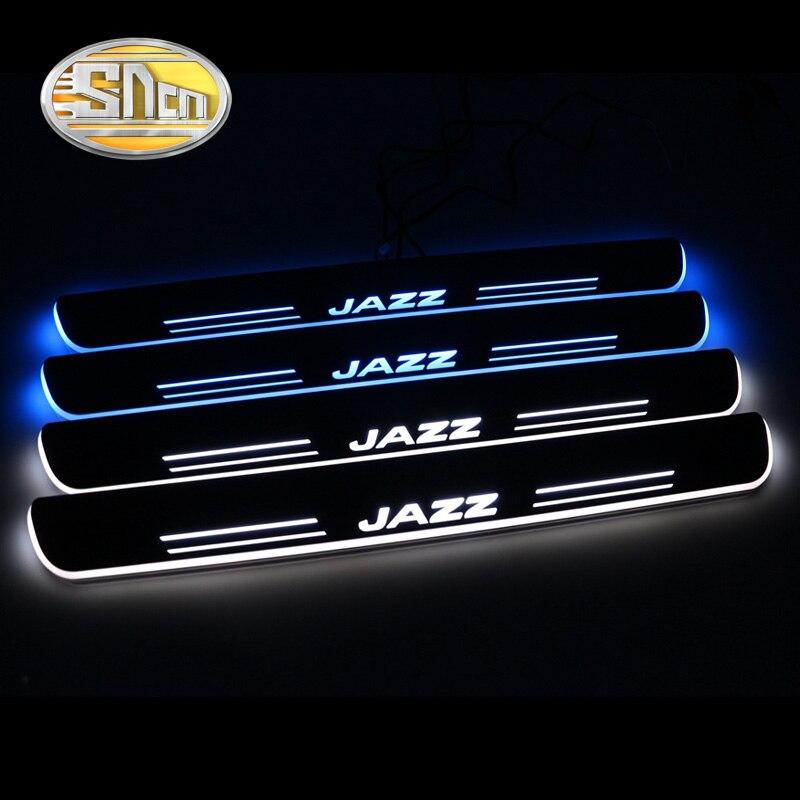 SNCN imperméable à l'eau acrylique mobile LED bienvenue pédale voiture plaque de seuil de porte pédale voie lumière pour Honda Jazz 2017 2018 2019