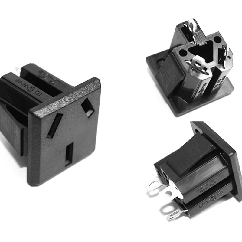 10Pcs 3P Plug Socket PCB Board Power Adapter Connector AC 250V 10A SS-6D