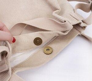 Image 5 - קורדרוי דלי תיק נשים בד מזדמן גדול Capcity למעלה ידית תיק לנשים אופנה פנאי Crossbody תיק Hipster ארנק