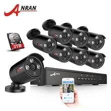 ANRAN Plug And Play 8CH CCTV Système 48 V POE NVR Kit Onvif P2P 1080 P 2.0MP HD POE Étanche Email Alarme Caméra de Sécurité système