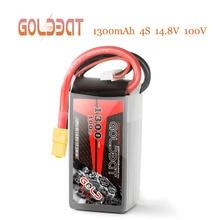 GOLDBAT 1300 mAh 4S 100C 14,8 V Softcase Lipo Батарея пакет с XT60 Разъем для RC автомобилей Грузовик Лодка Heli самолет БПЛА Drone FPV RACING