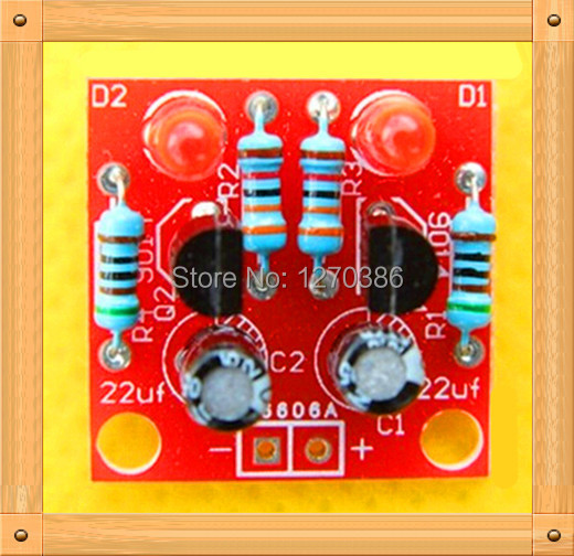 Free Shipping!!! 10pcs Electronic diy production suite / simple flash circuit / electronic production (spare parts)