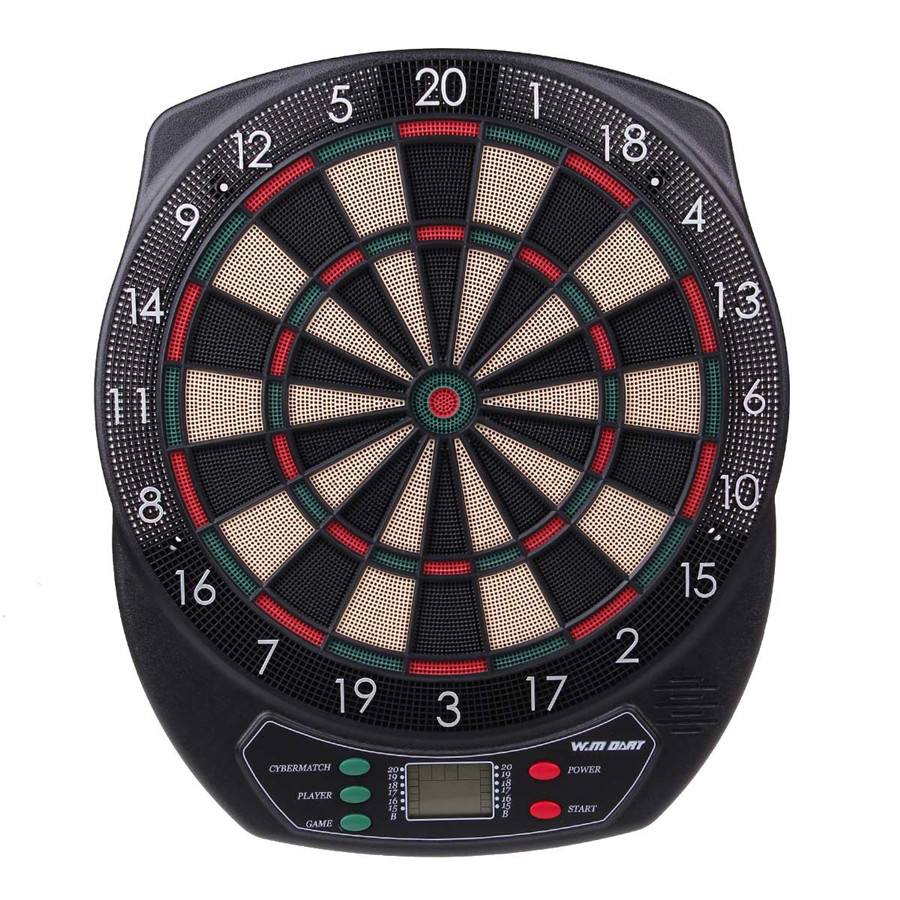 18'' Professional Electronic Dartboard Target Dart Game Set With 6 Soft Tip Darts for Adults Playing Dart Game Automatic Scorer  wmg08580 professional 18 soft tip electronic voice dartboard with 6 dart black multicolor