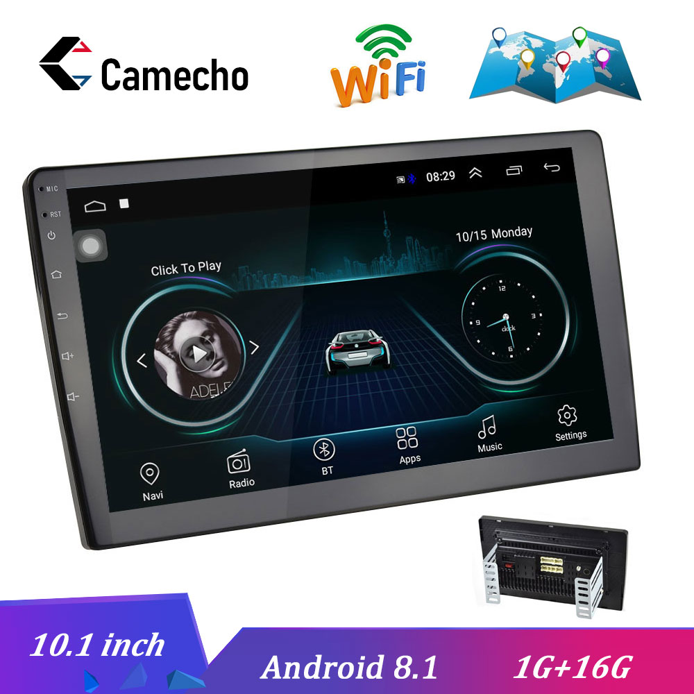 Camecho 10.1 pouces Android 8.1 Autoradio GPS Autoradio Mp5 multimédia DVD lecteur vidéo Bluetooth WIFI miroir lien Audio stéréo