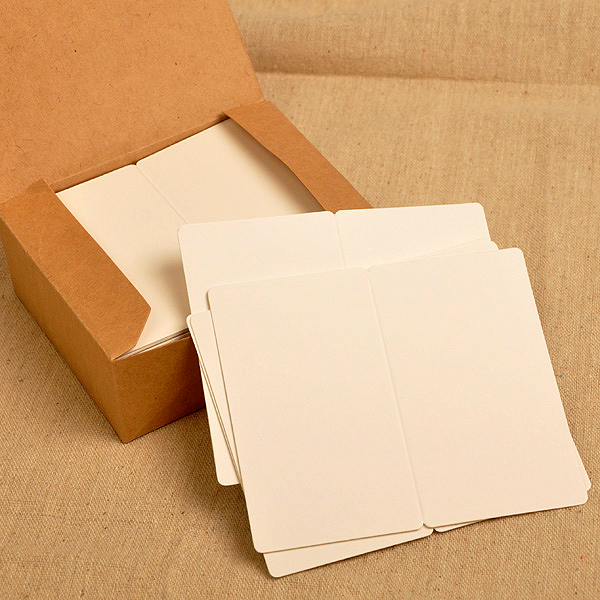VIVID Collapsible Blank Message Paper 300GMS Rounded White Word Cards 400 Sheets