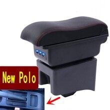 עבור תיבת משענת יד פולו פולו V האוניברסלי 2009 2018 רכב מרכז קונסולת שינוי אבזרים זוגי העלה עם USB