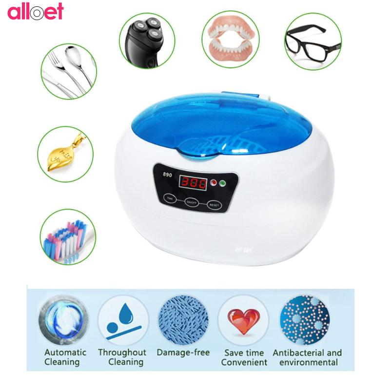 Small Household Ultrasonic Cleaner Jewelry Glasses Cleaning Machine Intelligent Control ultrasonic cleaning ultrasonic bath household glasses jewelry watches denturesmobilephone motherboard ultrasonic cleaning machine