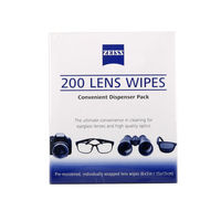 Zeiss Pre Moistened Lens Cleaning Wipes sensor cleaner cleaning dslr micro lcd screen camera lens cleaner (200 Wipes)