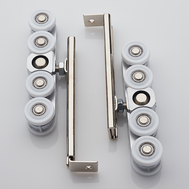 Automatic cleaning hanging wheel sliding door hanging pulley glass door mute hanging rail wheel balcony sliding door 8 wheels