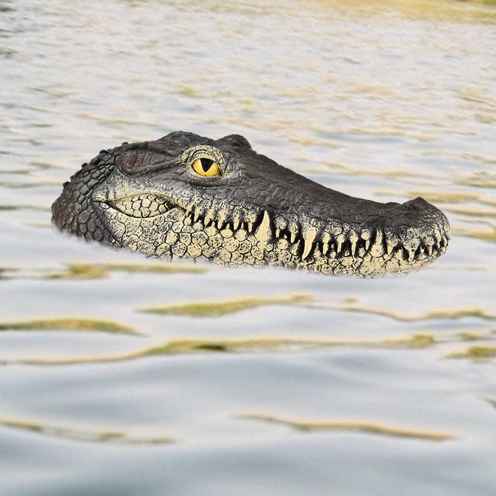 Alligator Head Decoy Pond Float Simulation Doll Garden Crocodile Head Decoration Drives Ducks