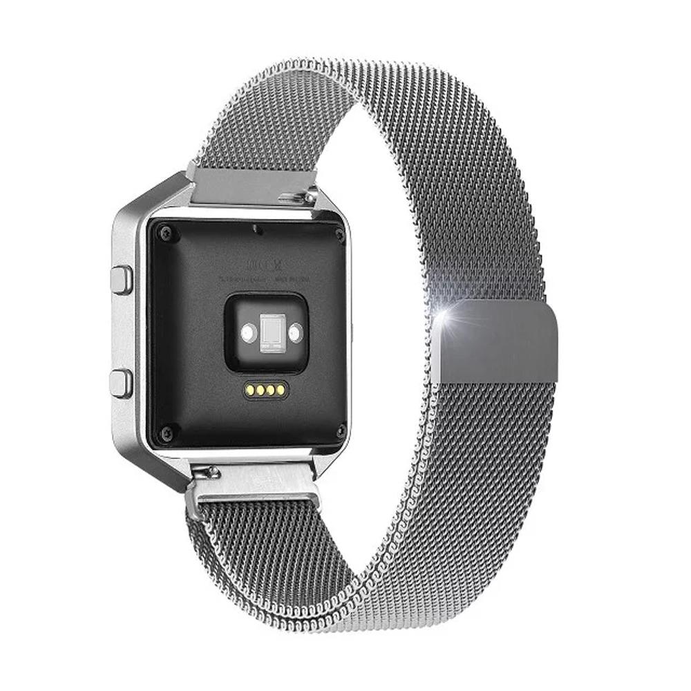Prix pour Acier inoxydable De Luxe Milanese Magnétique Boucle Montre Bracelet Bande pour Fitbit Blaze Métal Bracelet Noir Argent Rose Or I88