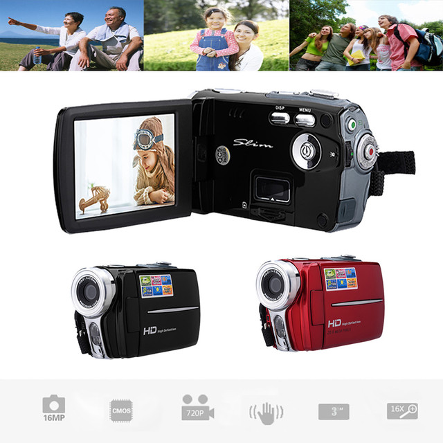 HD 720P 3.0 inch Video Camcorder Handheld Digital Camera 16X Digital Zoom DV Video Recorder Digital Camera Memory media SD/SDHC 2