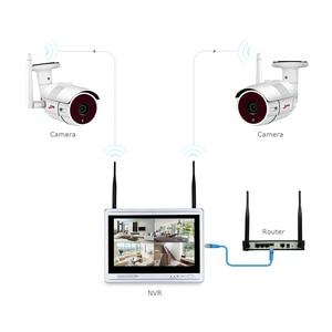 Image 5 - Камера видеонаблюдения ANRAN, водонепроницаемая камера безопасности с 12 дюймовым ЖК экраном, 1080P, 4 канала, Wi Fi, NVR, HD, 2 МП, IP